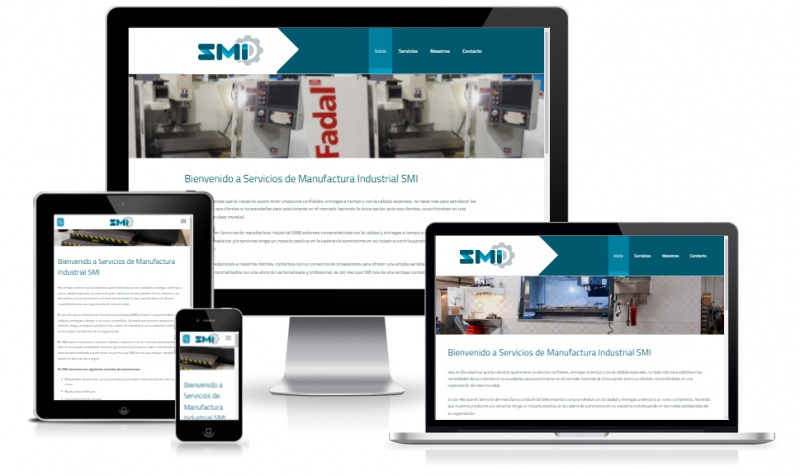 Responsive design for manufacture service website