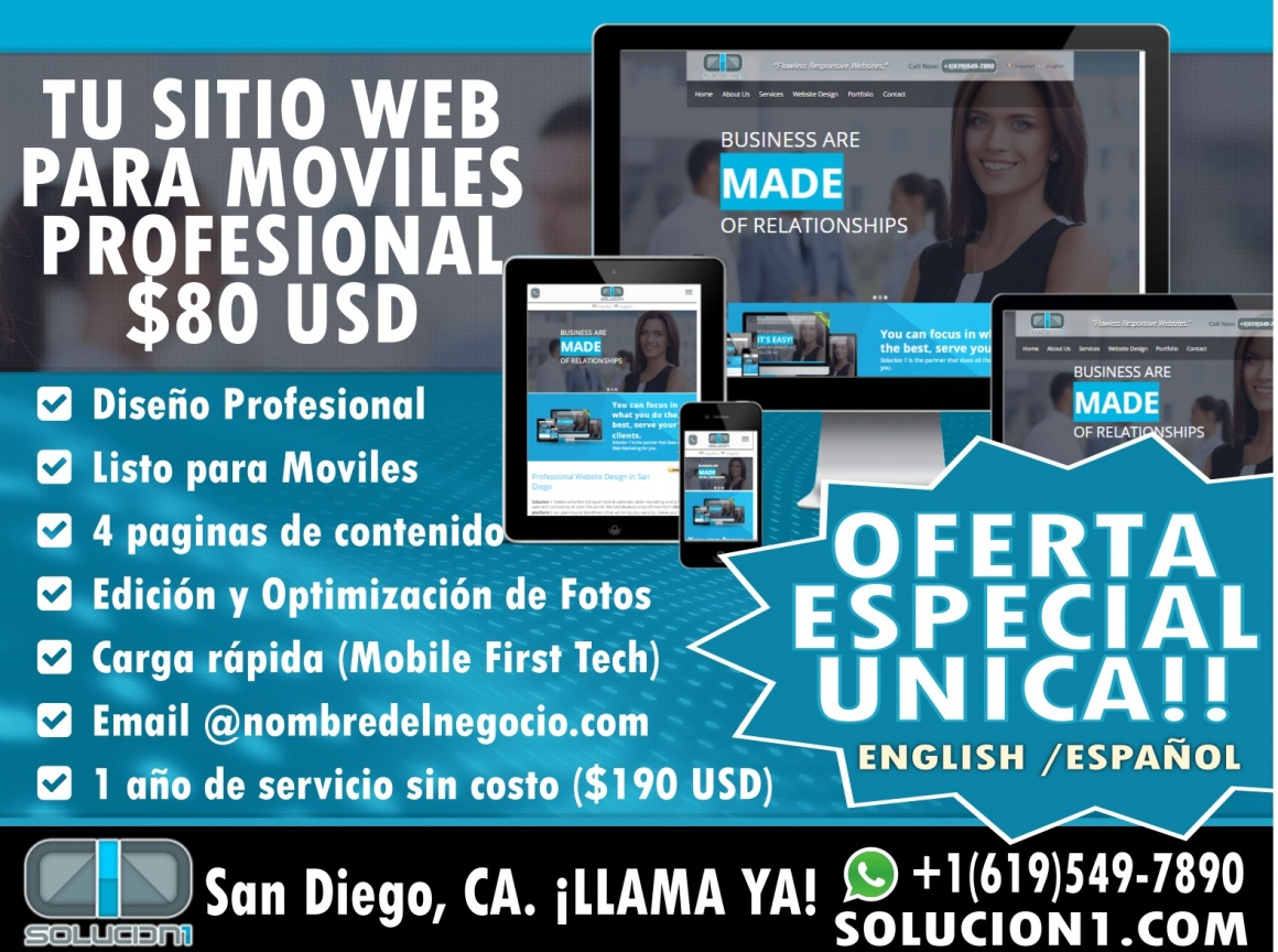 Website Design Special Ad in San Diego CA